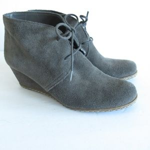 Franco Sarto Ankle Booties Wedge Suede Boots